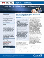 Canadian Adverse Reaction Newsletter, Volume 24 - Issue 4 - October 2014