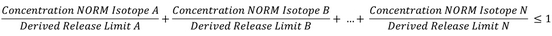 Summation formula for the case of multiple long-lived radionuclides per sample.