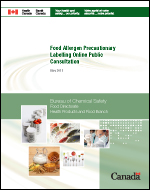 Food Allergen Precautionary Labelling Online Public Consultation